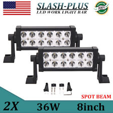 2X PHILIPS 8inch 36W LED Light Offroad SPOT Driving Fog Lamp 4WD ATV Boat 12V24V