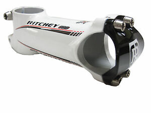 "Ritchey Pro 4 Axis Wet White ALLOY Stem 110MM  31.8MM 1 1/8"" (RED logo) BIKE"