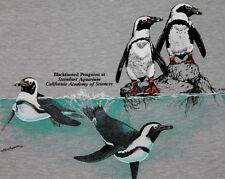 XXS *NOS thin vtg 80s 1987 PENGUIN steinhart aquarium CALIFORNIA SCIENCE t shirt