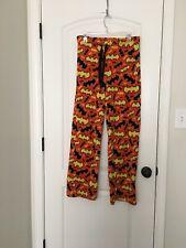 Batman Halloween Women's Fleece Lounge Sleep Pajama Pants Sz S 4-6 Clothes