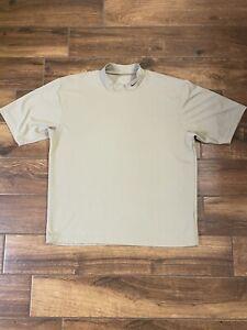 Vintage Nike Golf Dri Fit Tiger Woods Style Mock Turtle Neck Shirt Large Mens A2