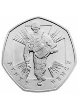 50p Coin 2006 Commemorative World War 2 ll Fifty Pence Coin Wounded Soldier Hero