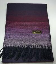 New Lady Scarf Women Wrap Winter Shawl Tassel Gradient purple Made in Taiwan
