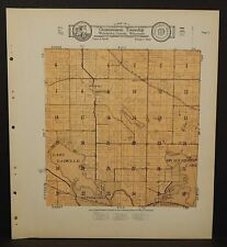 Wisconsin Waukesha County Map Oconomowoc  Township 1930  Q8#50