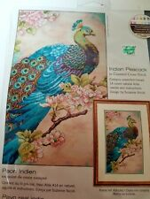 CROSS STITCH KIT DIMENSIONS INDIAN PEACOCK GORGEOUS NEW NRFB