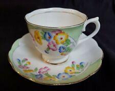 1930s Royal Albert Crown China COWSLIP Cup and Saucer #1547 England VGUC Rare