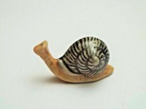 magnifique miniature escargot en porcelaine , collection ,slak,  snail G-tp8-13