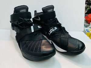 Nike Zoom Lebron Soldier 9 SZ 16 BLK/White SHOES SNEAKERS BASKETBALL 749417 001