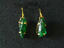 Wunderschöne Ohrringe, 24 Karat vergoldet, Kristall, Grüner Cluster,Emerald,Edel