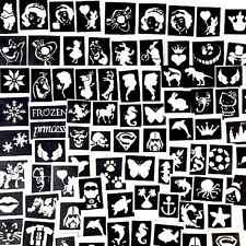 STENCILS for glitter tattoos airbrush X 50 a mix of boys girls plus seasonal