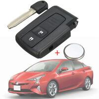 2 Tasti Chiave Cover Telecomando & Lama Staccabatteria Per Toyota Corolla Verso