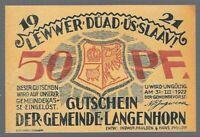 Notgeld -  Langenhorn - Gemeinde Langenhorn - 50 Pfennig - 1921