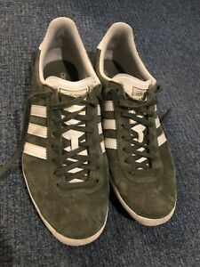 Adidas Originals Gazelle Og Green Olive Khaki UK 8.5