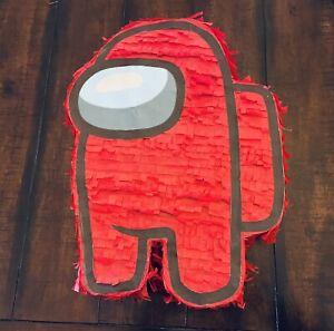 Among Us Red Player | Hand Made Medium Size Piñata | Birthday Party Pinata