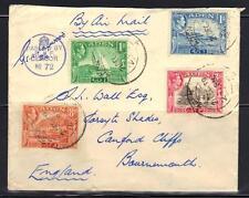 Aden 1939 Aérien Courrier Censuré Housse 4 Couleur Affranchir To Angleterre Neat