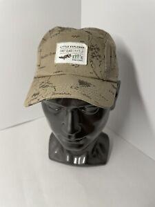 Childs Place Little Explorer hat cap 3-9 months world map Light Brown Super Cute