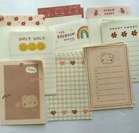 Kawaii Mixed Lot of 45 Stationary Memo Pad Sheets Cute Korean Japanese Chinese