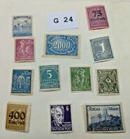 Mint German stamps unchecked for value Lot G 24