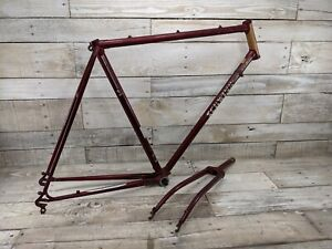 "1980 Schwinn Traveler Red Frame Fork 23"" Road Bike Vintage Project"
