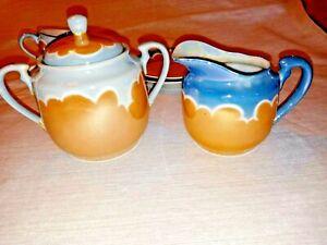 glazed Vintage ceramic porcelain Japan Tea Set saucers plates cups cream sugar