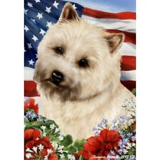 Patriotic (1) House Flag - Wheaten Cairn Terrier 16094