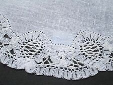 Vintage handmade round dollie from Brussel lace -with label made in Belguim