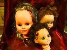 lot==== 3   tétes poupées ,2bellas