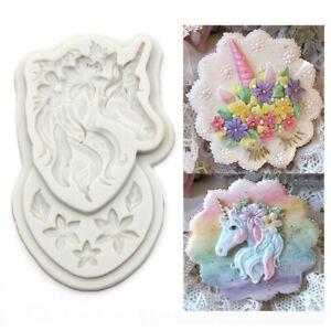 Silicone Unicorn Cake Fondant Decorating Mold Sugarcraft Chocolate Baking Mould