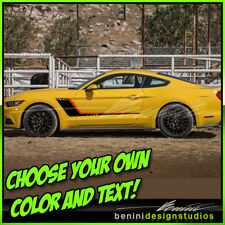 2015 & up Ford Mustang GT Custom Hockey Stripes 2 color 2016 2017 2018 #2