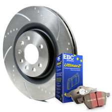 Chrysler 300C 3.0 CRD Front Dimpled Grooved Brake Discs with EBC Pads