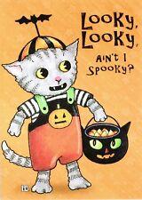 Mary Engelbreit-Looky Looky Ain'T I Spooky Tom Cat-Halloween Card w/Envelope-New