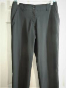 NIKE GOLF DRI-FIT Golf active wear Pants Black Flat Front Women's Size 4