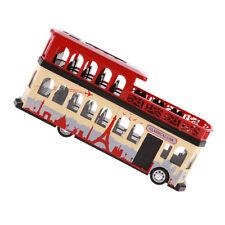 Kids Boys Diecast Red Double-decker Bus Tourist Car Model 1:28 Art Crafts
