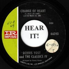 Dennis Yost 60s ROCK (Imperial 66393) Change Of Heart /Rainy Day  VG+
