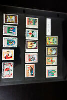 India Selection of 14 Scarce Poster Stamps Mid-1900's Clean