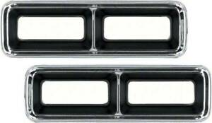 OER 5959941-42 1968 Chevrolet Camaro Diecast Tail Lamp Bezel Set