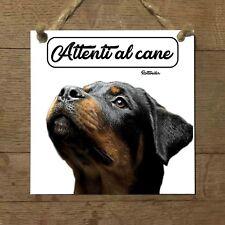 Rottweiler MOD 2 Attenti al cane Targa cane cartello ceramic tiles PIASTRELLA