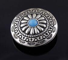 3PCS Western Vintage Turquoise Metal Round Concho Button Screw Eye #1