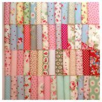 80pcs DIY Assorted Pre Cut Charm 10x10cm Cotton Squares Quilt Fabric Quarters