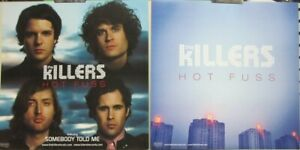 The Killers 2005 Hot Fuss 2 Sided promotional poster/flat Flawless New Old Stock