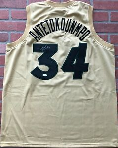 Giannis Antetokounmpo autographed signed jersey NBA Milwaukee Bucks JSA