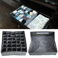 1pc/3pcs Drawer Closet Organizer Underwear Bra Socks Storage Box Container HY10