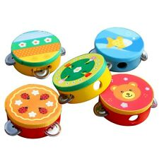 1PCS Baby Tambourine Educational Musical Instrument Toy Handbell Clap Drum Gifts