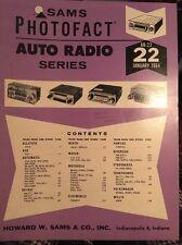 Sams Photofact-Auto Radio Manual/#AR-22 First Edition Jan. 1964