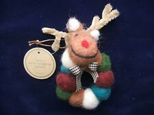 Reindeer Christmas Ornament / Napkin Ring from Germany, new with tag