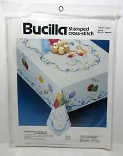 "Bucilla ""Celebration"" Cross Stitch #40543 Birthday Balloons Set of 4 Napkins NIP"