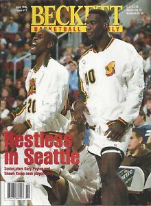 Gary Payton Beckett Basketball Price Guide July, 1996 Issue Garnett on Back