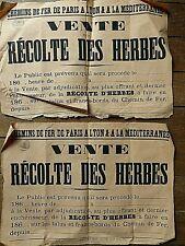 2 AFFICHES P L M 1860 / CHEMINS DE FER