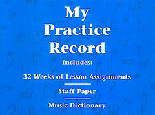 Hal Leonard Student Piano Library: My Practice Record Piano Sheet Music Instrume