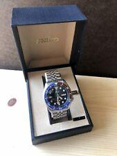 Seiko Divers Watch Upgraded Sapphire Ceramic Pepsi Bezel Jubilee SKX009K2